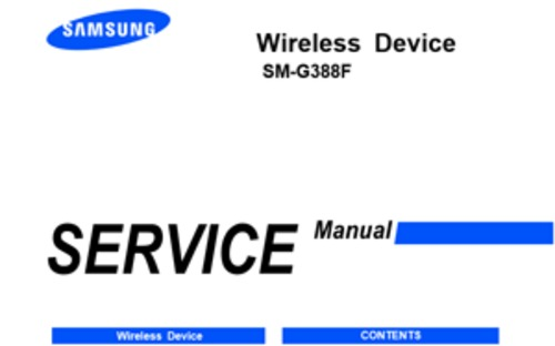 Product picture Samsung Galaxy Xcover - SM-G388F Service Manual